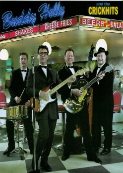 Alan Becks as Buddy Holly Tribute Artist with or without his 'Crickets'