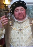 Alan Myatt as King Henry VIII Historical Figure