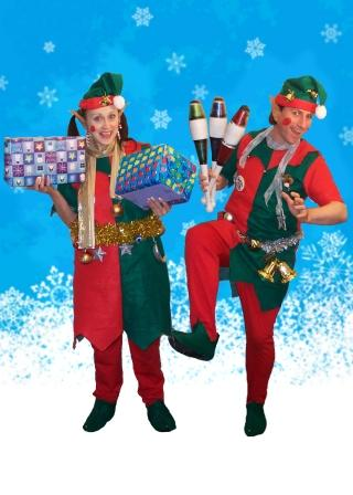 Juggling Elves, Balloon Modelling Elves, Very Silly Elves, East Sussex