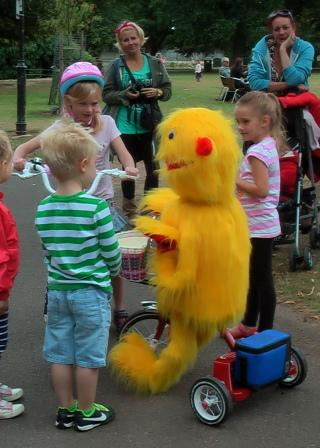 Murray the Mini Monster on trike by Animated Magical Moments