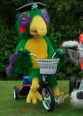 Parrot on Trike Bruce Grantham Northamtonshire