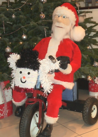 Father Christmas on a trike by Animated Magical Moments
