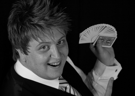 Magician Ash Arnold is available for bookings from Northumberland