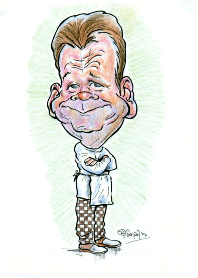 Brian Morrison's Caricature of Gordon Ramsay, Brian is from Ayrshire