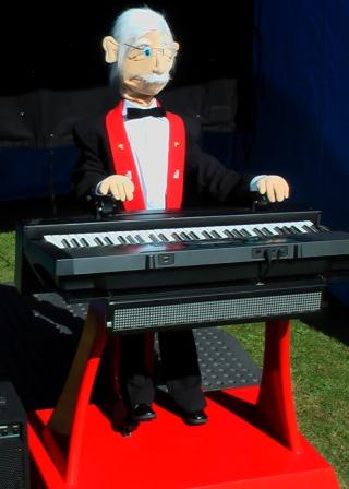 Robots by Animated Robot Brigadier Braithwaite Playing Keyboards in Northamptonshire
