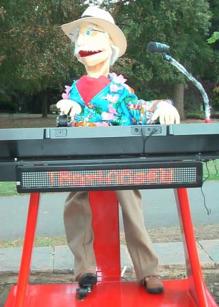 Holiday Guy Keyboard Player by Animated Magical Moments