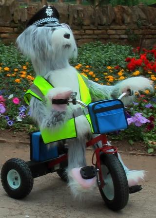 Sheridan the police dog on trike by Animated Magical Moments