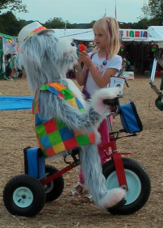 robots by Sheepdog on trike by Animated Magical Moments in Northamptonshire
