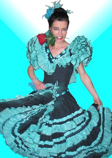 Walkabout Flamenco Dancer, Walkabout Characters based in Yorkshire