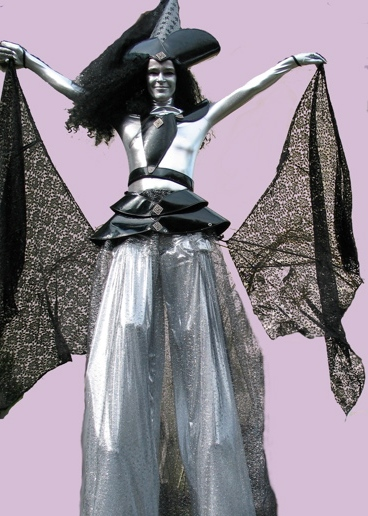 Silver Witch on Stilts Witch on Stilts based in South Yorkshire