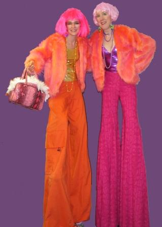 60's 70's Stilt Walkers based in South Yorkshire