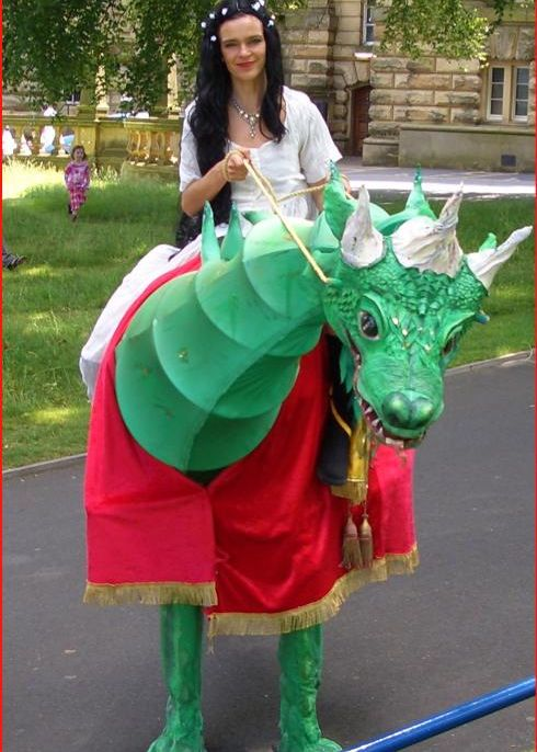Princess and Dragon, Walkabout Characters based in Yorkshire