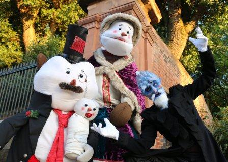 The Snow Family with Jack Frost their butler by Creature Encounter West Midlands