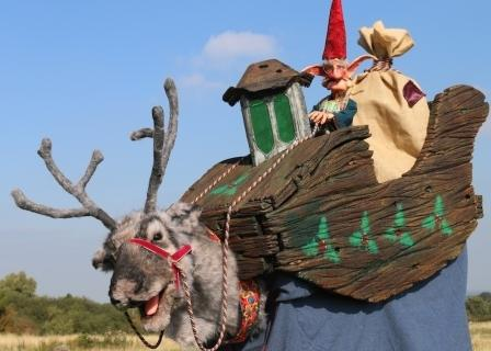 Reindeer & Elf by Creature Encounter West Midlands