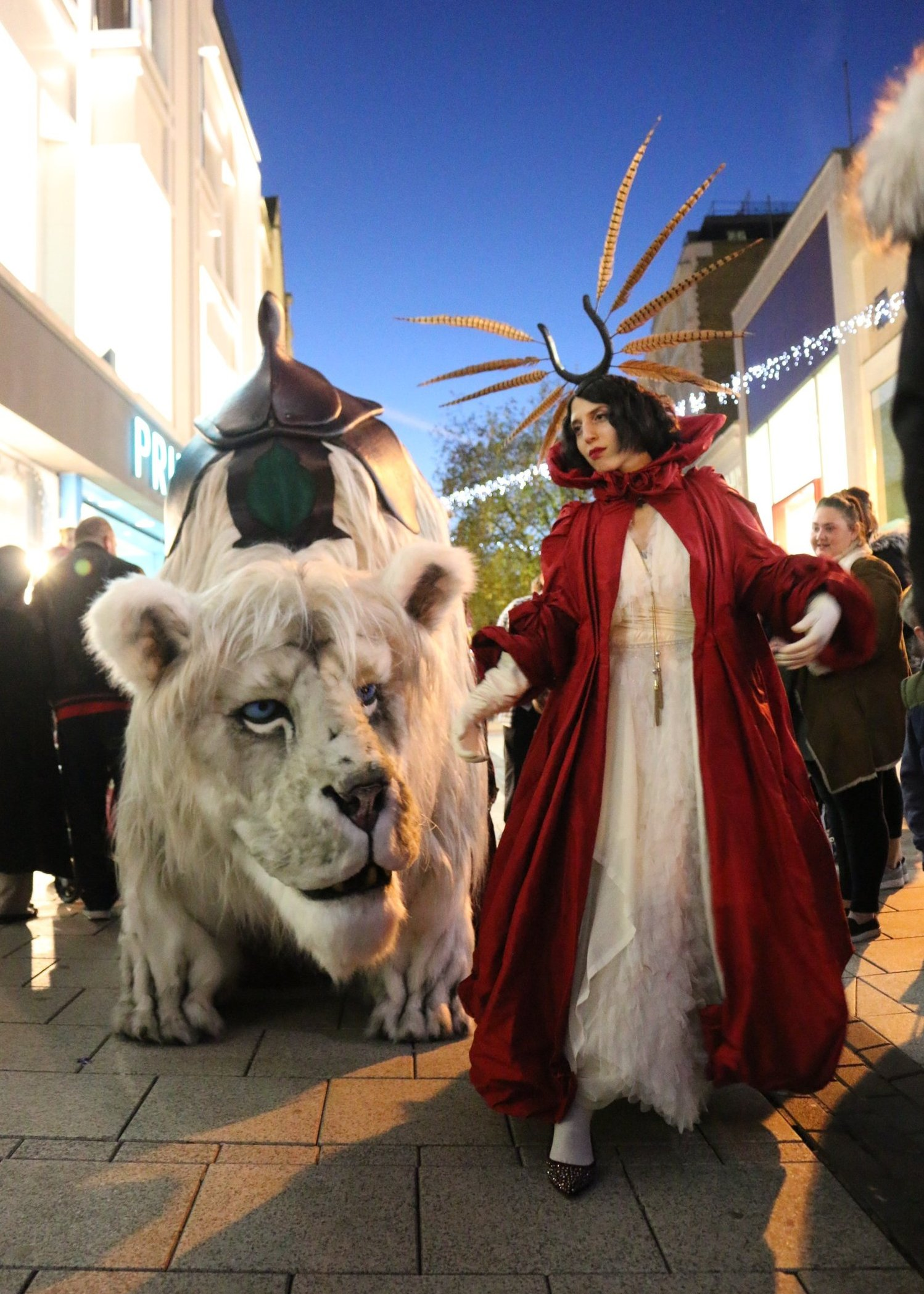 Snow Lion & Red Queen by Creature Encounter West Midlands