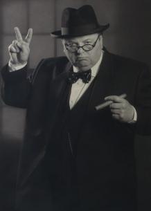 Winston Churchill lookalike Derek Herbert