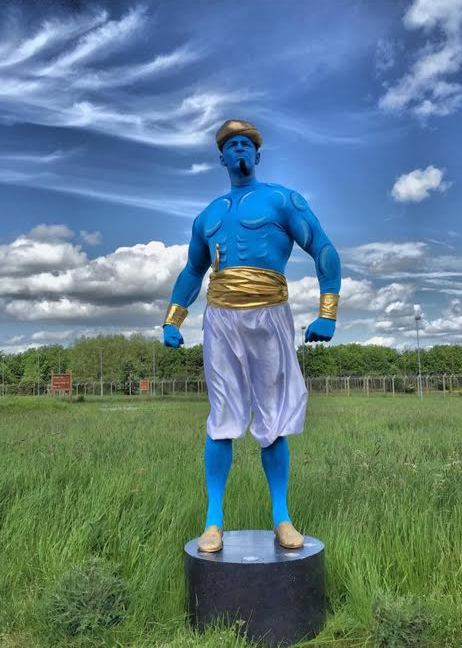 Genie (Blue)  Living / Human Statue by Electric Cabaret Northamptonshire