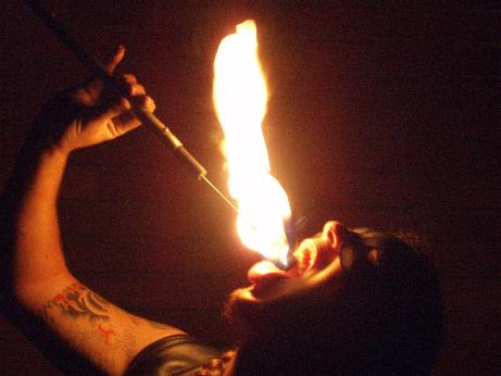 Glenn Scott as Fire Performer from Lancashire