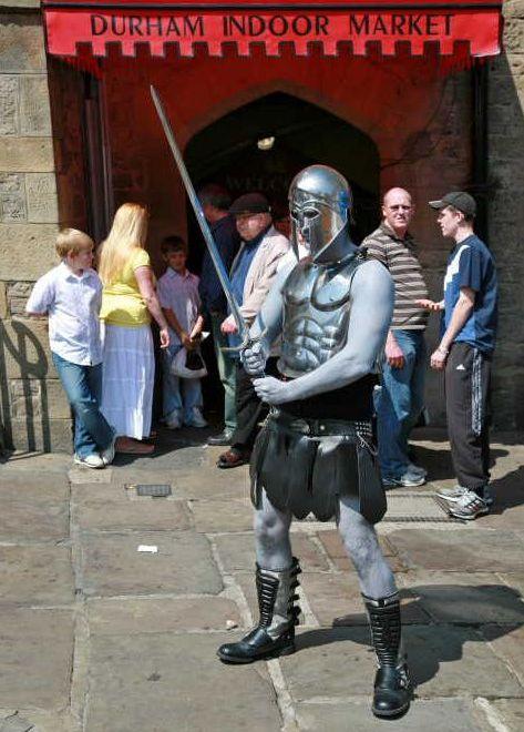 Glenn Scott Living Statue Gladiator Lancashire