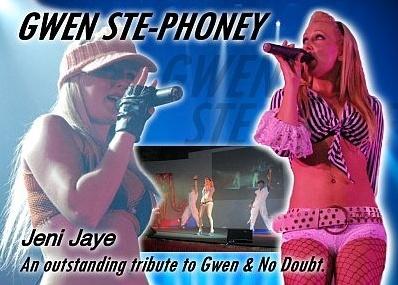 Jeni Jaye as Gwen Ste-phoney Gwen Stefani Tribute North Yorkshire