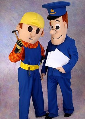 John Wilkinson's Lookalikes of the famous Builder and Postman available as walkabout promotional characters in the North East