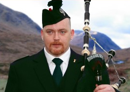 Mac the Pipes Keith McIntyre Scotland