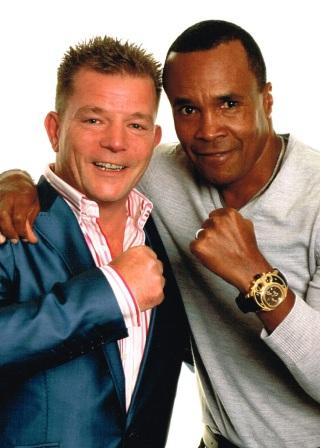 Lester Crabtree Comedian, with Sugar Ray Leonard