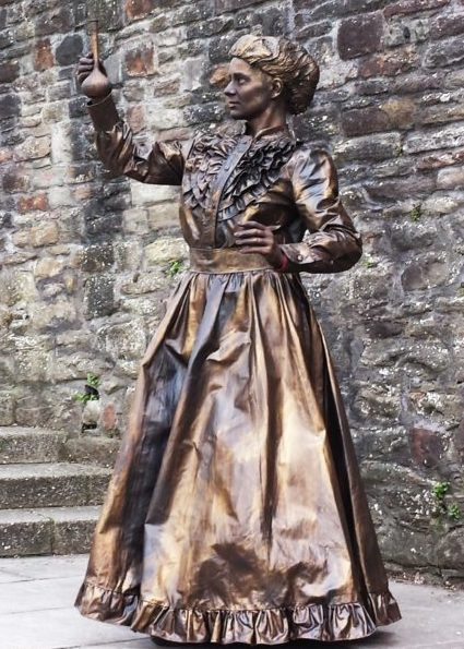 Marie Curie Statue and Walkabout by Lutrek of Bristol