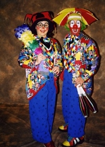 Clowns Jinette and Mar West Sussex