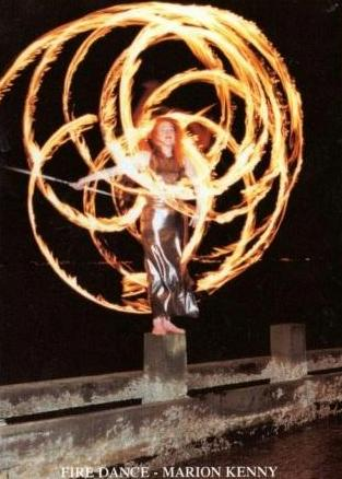Marion Kenny Fire Dancer Edinburgh