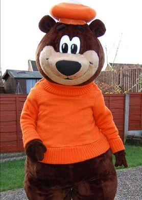 Mascot Character Brown Bear