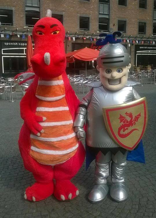 Mascot Characters Dragon & Gladiator St. Georges Day