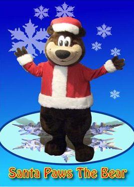 Christmas Character Bear as Santa bear