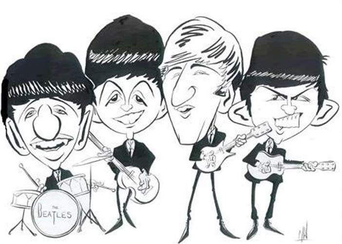 Caricatures by Mick Wright