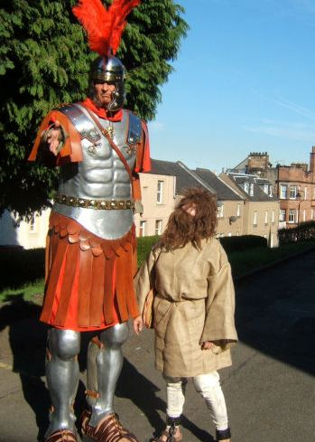 Roman Soldier on stilts by Big Rory