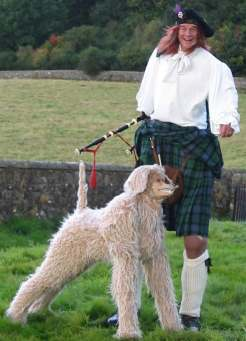 Mike Rowan as Big Rory and his Dog from Glasgow