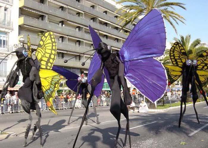 Butterfly stilt walkers by NWSI of Tyne & Wear