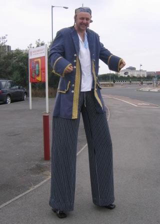 Pirate on stilts