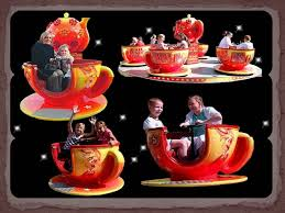 cup and saucer ride, victorian swing boats/ shuggy boats, fun house by Carnival fun fairs