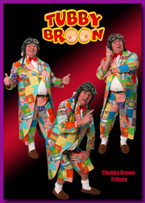 Chubby Brown lookalike Tubby Broon aka Peter Brown