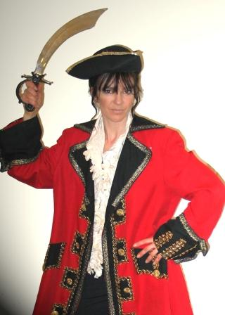 Pirate Captain on Stilts by Rachel H