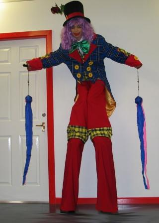Clumsy the Clown on Stilts Rachel H