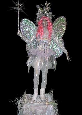 Frost Fairy, Fairy, Christmas events, gardens, Living Statues, Human Statues, in Yorkshire