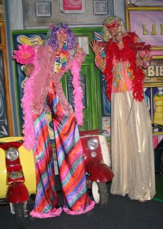 Hippy Stilt Walkers based in South Yorkshire