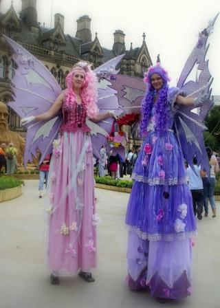 Flower Fairies on Stilts by Rachel H