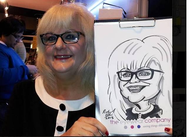 Richard Ellis West Midlands 'caricaturist to the stars'