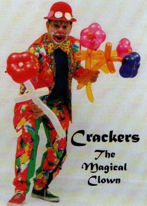 Ron Popple as Ronnie Crackers Juggler and circus workshops West Midlands