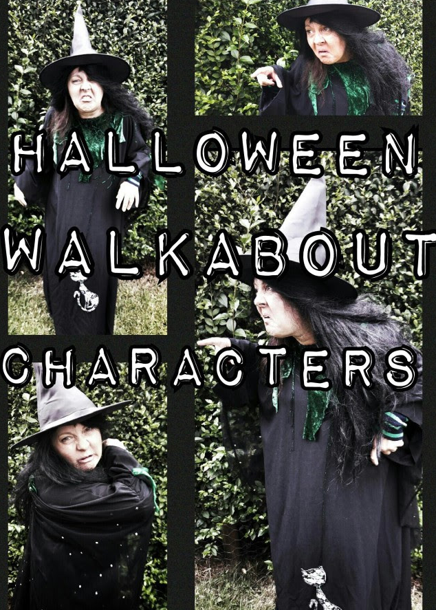 Halloween Witches on Stilts or off