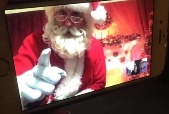 Virtual Santa Father Christmas himself
