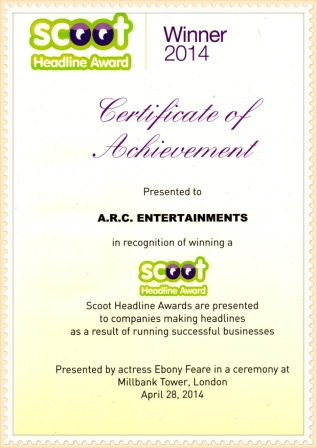 Scoot Gold Award Winner 2014